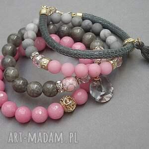 różowe skóra pink candy and grey /01 -10 -19/