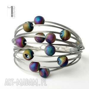 srebrne bransoletki druza planety - srebrna bransoleta
