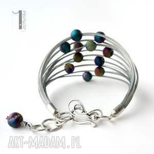 srebro bransoletki kolorowe planety - srebrna bransoleta