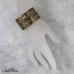 Caltha Pnącza - mosiężna bransoleta 171203 -02