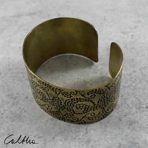 bransoletka pnącza - mosiężna bransoleta 171203