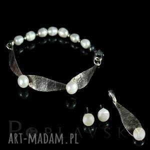 białe bransoletki bransoletka poplavsky perłowa