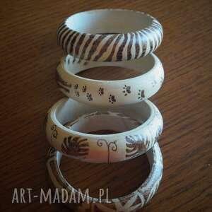 brązowe bransoletki tygrys prężąc pręgi - drewniana bransoleta