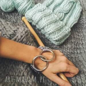 kobieca bransoletki ręcznie robiona bransoletka szara