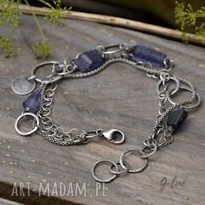 niebieskie iolit rezerwacja - bransoletka z szafirem