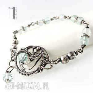 akwamaryn bransoletki niebieskie rime i - srebrna bransoleta