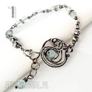 bransoletki wire-wrapping rime i - srebrna bransoleta z