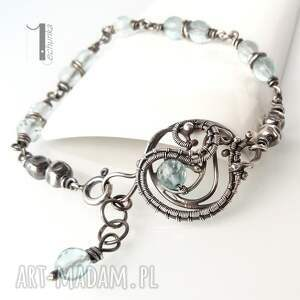 szare bransoletki srebro rime i - srebrna bransoleta z
