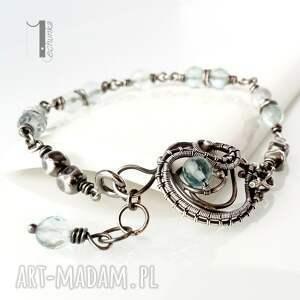 handmade bransoletki wirewrapping rime i - srebrna bransoleta