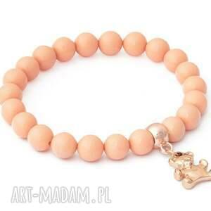 perła bransoletki fioletowe salmon pearl & violet crystal with