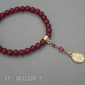 ręcznie zrobione bransoletki kamienie santa vol. 9 /ruby/ 12.07.18 -