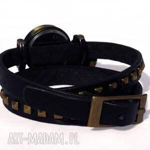 czarne bransoletki serce - zegarek / bransoletka