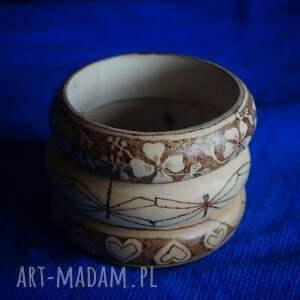 brązowe bransoletki drewno serduchowa bransoletka - ręcznie