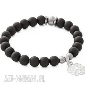 czarne bransoletki blackstone silver hematite & with