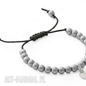 eleganckie bransoletki hematyt silver hematite & blackstone with