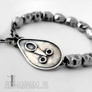 czarne bransoletki metaloplastyka siyah i srebrna bransoletka