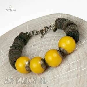 żółte bransoletki srebrna-bransoletka słoneczna srebrna bransoleta