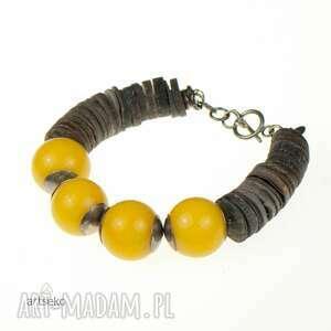 żółta-bransoletka bransoletki słoneczna srebrna bransoleta