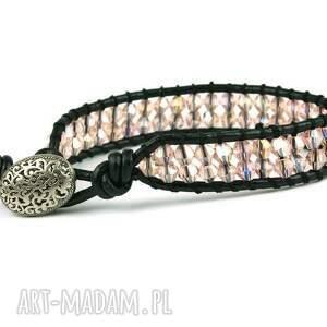 atrakcyjne kryształki snake wrap: różowe