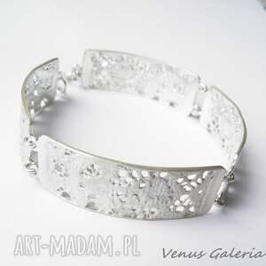 modne bransoletki biżuteria srebrna bransoletka - delicate