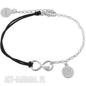 ręcznie wykonane bransoletki srebrna bransoletka infinity z
