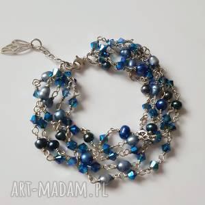swarovski bransoletki turkusowe srebrna bransoletka z błękitnych