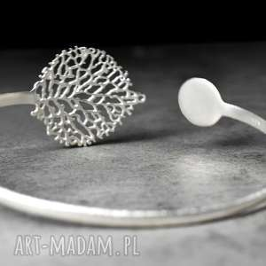 bransoletki srebro 925 srebrna bransoletka liść