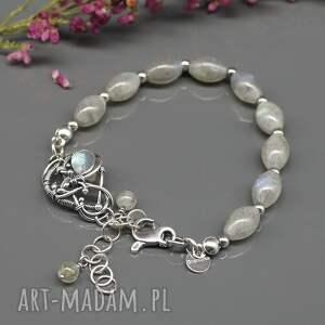 bransoletka niebieskie srebrna z labradorytami