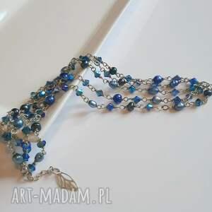 hand-made bransoletki srebrna bransoletka z błękitnych