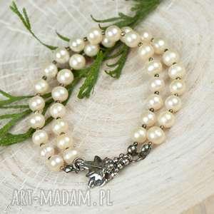 oryginalne bransoletki bransoletka-z-pereł srebrna bransoletka z pereł