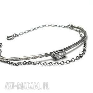 bransoletki cyrkonia srebrny łuk vo. 3 - bransoletka
