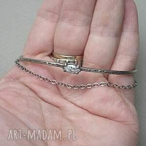 cyrkonia bransoletki srebrny łuk vo. 3 - bransoletka