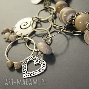 srebrne bransoletki krzemień srebro, bransoletka