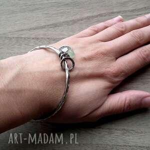 srebrna bransoletka srebro, frenit - bransoleta