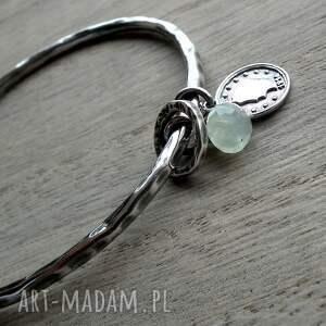 handmade bransoletki z-frenitem srebro, frenit- bransoleta