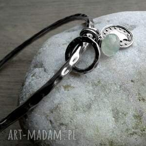 handmade bransoletki srebrna-bransoletka srebro, frenit- bransoleta
