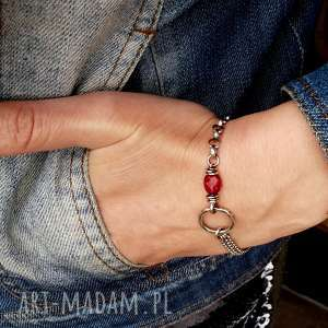 eleganckie komplet bizuterii srebro i kwarc rózowy - bransoletka