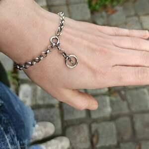 bransoletki regulowana srebro i peridot - bransoleta