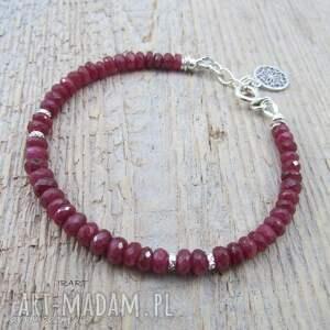 bransoletki srebro subtelna z rubinu longido tanzani