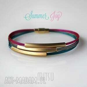 ręcznie robione bransoletki kolorowe summer joy