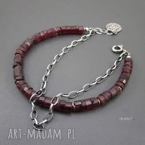 eleganckie bransoletka wykonana z talarków surowego