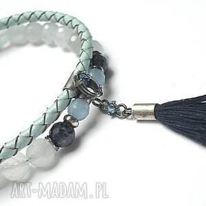 unikalne bransoletki srebro szafirowy chwost - bransoletka