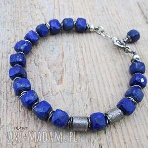 lazuli sześciany lapis z satynowymi