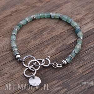 wyjątkowe bransoletki srebro szkło antyczne bransoletka