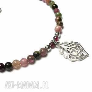 srebrne bransoletki turmalin szlachetna kolekcja - turmaliny