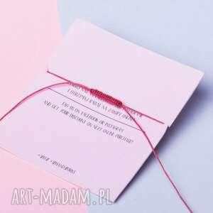 handmade bransoletki sznurkowa whw taste graphite heart on red