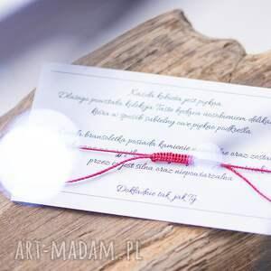 hand-made bransoletki sznurkowa whw taste ruby agate