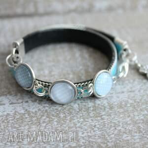niebieskie bransoletki charms turkusowa bransoletka miś