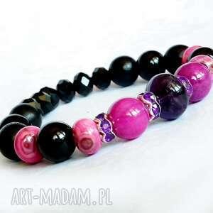 bransoletka bransoletki różowe unikatowyn komplet biżuterii