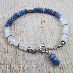 kyanit bransoletki niebieskie walec z kyanitem i kamieniem